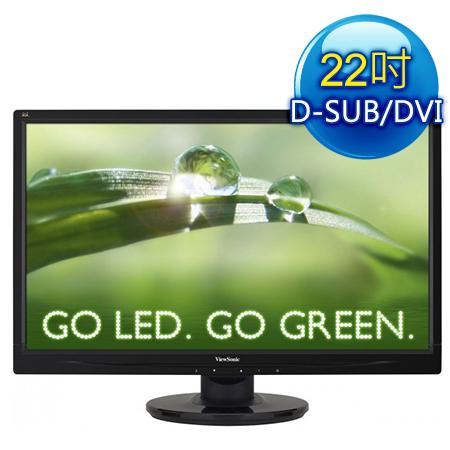 ViewSonic優派 VA2246M 22型 雙介面LED液晶螢幕