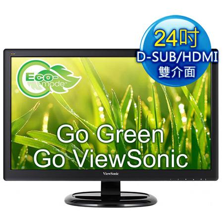 ViewSonic優派 VA2465Smh 24型 Full HD護眼液晶螢幕