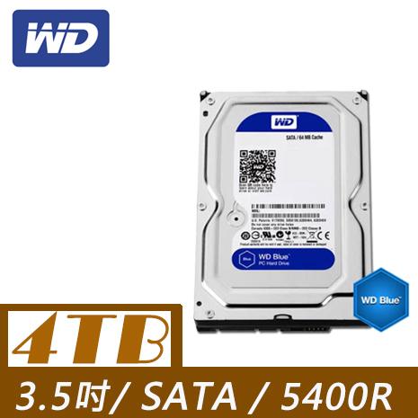 WD 威騰 Blue 4TB 3.5吋SATAIII 硬碟(WD40EZRZ)-3C電腦週邊-myfone購物