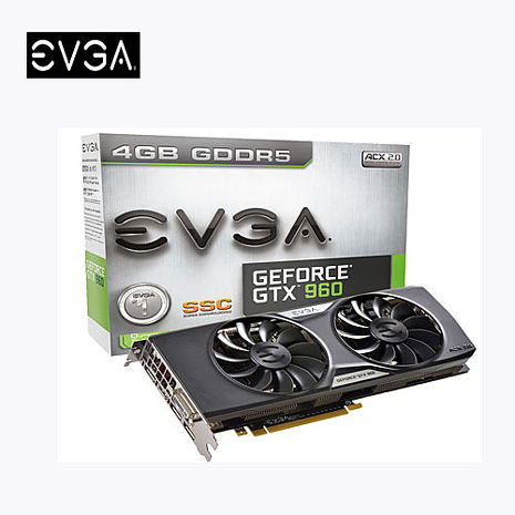 EVGA 艾維克 GTX960 4GB SSC ACX2.0 BP 顯示卡 (04G-P4-3967-KR)