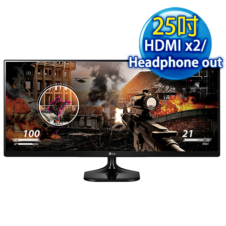 LG樂金 25UM58 25吋 UltraWide? WQHD AH-IPS 電競旗艦螢幕