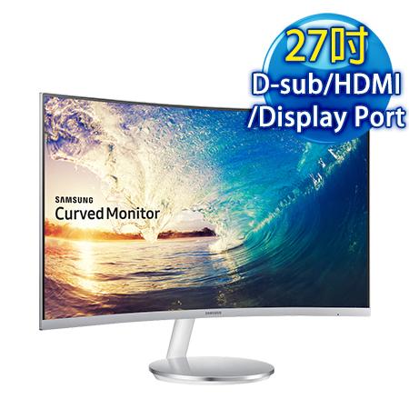 SAMSUNG三星 C27F591FDE 27型 VA曲面 低藍光電競液晶螢幕