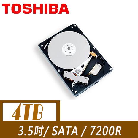 TOSHIBA 東芝 4TB 3.5吋 SATA 72轉 硬碟( MD04ACA400)