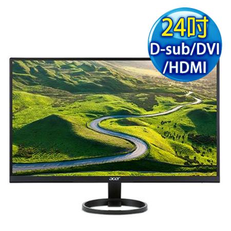 Acer宏碁 R241Y 24型 FullHD薄邊框+三介面液晶螢幕