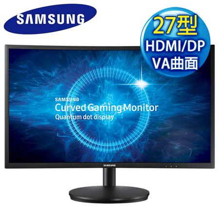 【福利品】SAMSUNG三星 C27FG70FQE 27型VA曲面1毫秒電競護眼螢幕