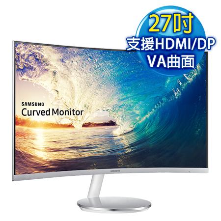 【福利品】SAMSUNG三星 C27F591FDE 27型 VA曲面 低藍光電競液晶螢幕-數位筆電.列印.DIY-myfone購物