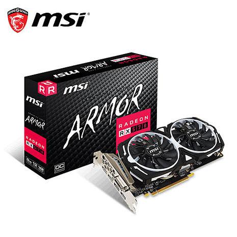 MSI微星 RX 570 ARMOR 8G OC 顯示卡Gaming虎