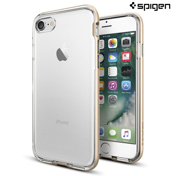 【Spigen SGP】iPhone 8 / 7 (4.7吋) Neo Hybrid Crystal 雙件式透明背蓋邊框手機殼銀