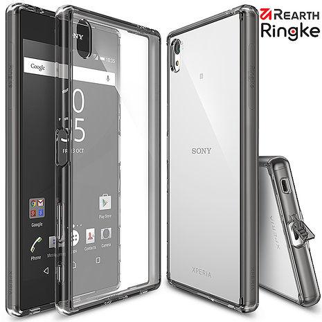 【Rearth Ringke】Sony Xperia Z5 Premium (Z5P) [Fusion] 透明背蓋防撞手機保護殼 玫瑰透