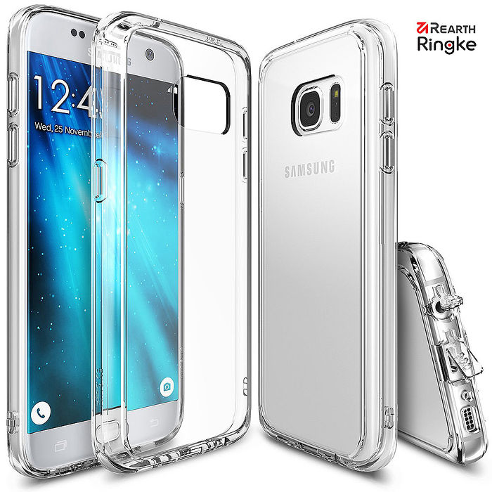 【Rearth Ringke】三星 Galaxy S7 [Fusion] 透明背蓋防撞手機殼透明