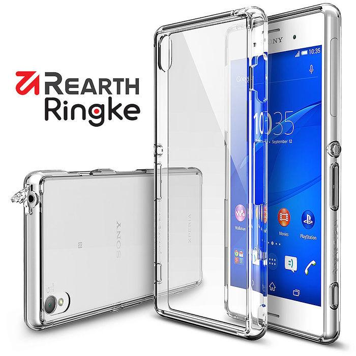 【Rearth Ringke】Sony Xperia Z3 [Fusion] 透明背蓋防撞手機殼透黑