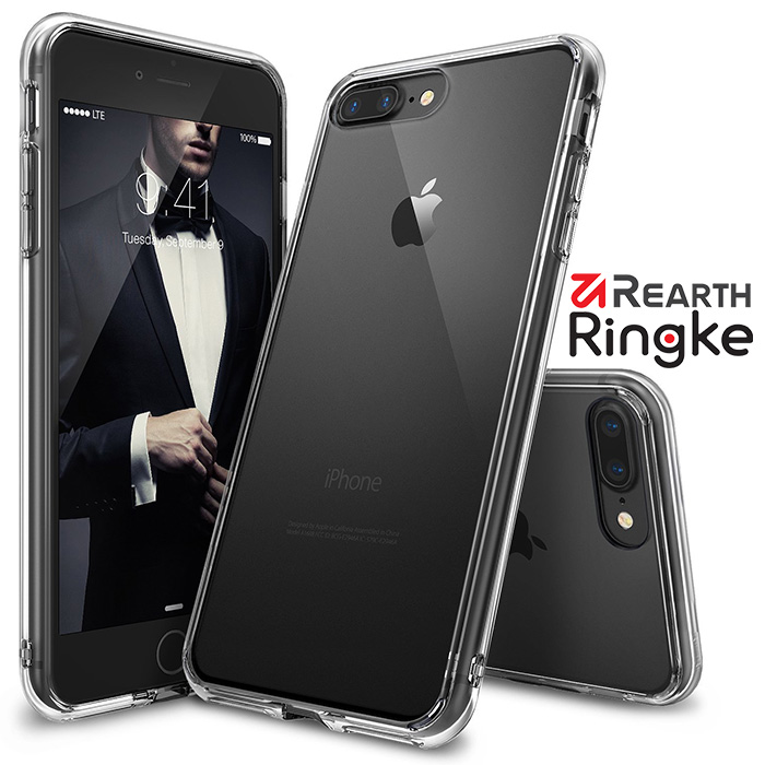 【Rearth Ringke】iPhone 8 / 7 Plus (5.5吋) [Fusion] 透明背蓋防撞手機殼透明
