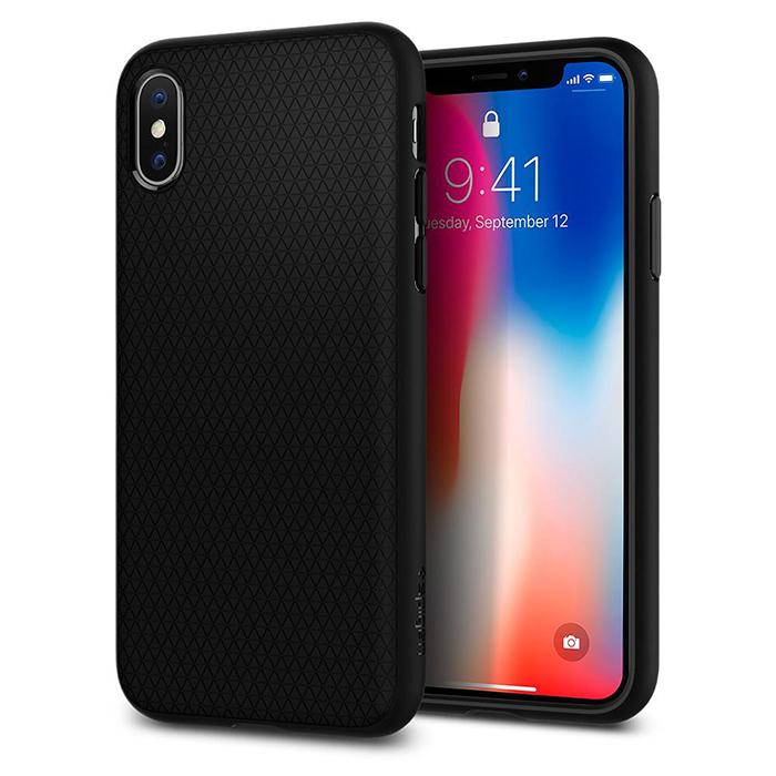 [Spigen SGP] iPhone X Liquid Air 輕薄軟式吸震防撞手機殼黑