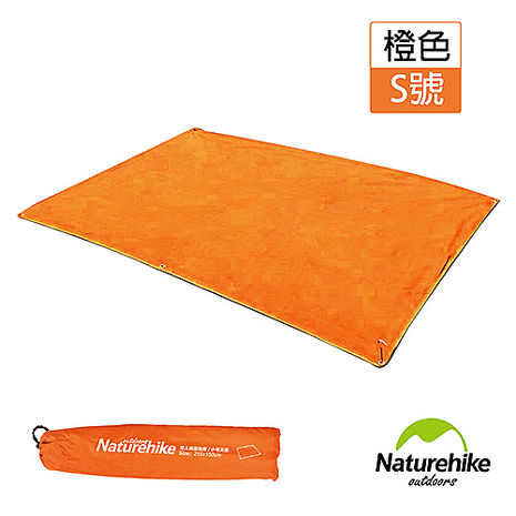 Naturehike戶外6孔帳篷地席 天幕帳布 S號雙人 橙色