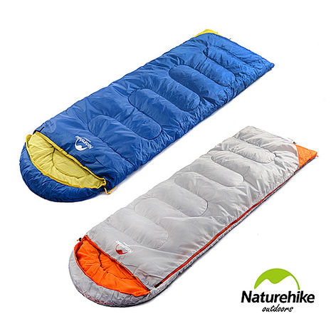 Naturehike KIT款帶帽全開式信封睡袋 兩色淺灰