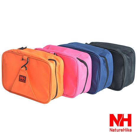 Naturehike可掛式大容量旅行防水盥洗包 洗漱包 四色桃色