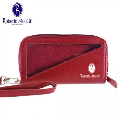 義大利《Roberto Mocali》手機袋/雙拉鋉手拿包(RM-8109R-1)
