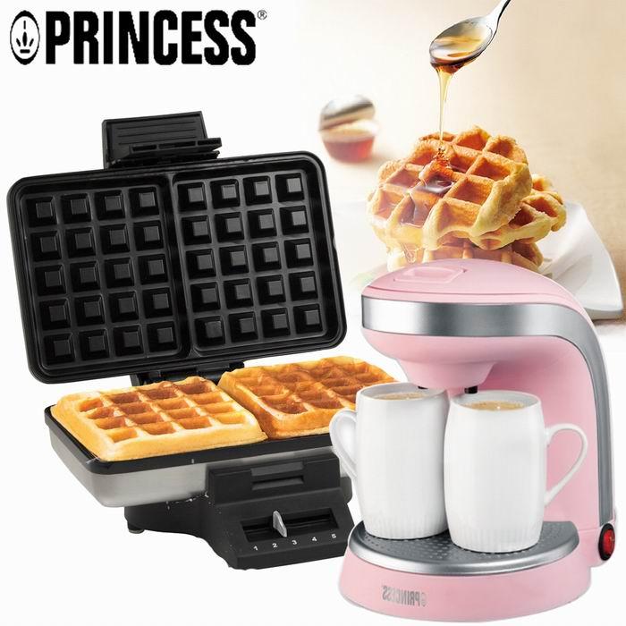 PRINCESS歐式午茶特惠組(鬆餅機+咖啡機)