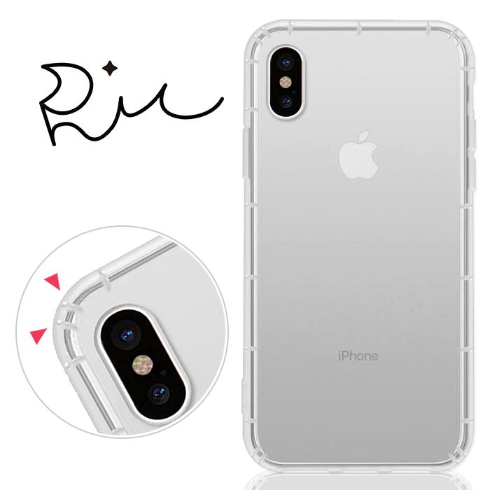 RedMoon APPLE iPhone X 防摔氣墊透明TPU手機軟殼