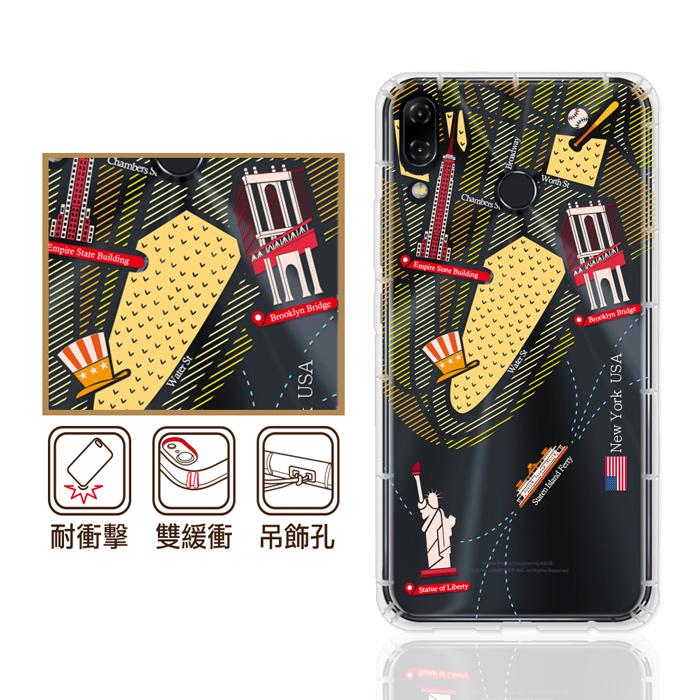 反骨創意 華碩 ZenFone6 / ZF5 / ZF4系列 彩繪防摔手機殼-世界旅途(慾望城市)