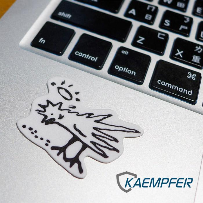 [Kaempfer] SuperClean 極度清潔螢幕擦拭 memo貼 - 小雞吃米圖二入
