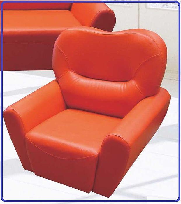甜心橘紅「單人座沙發」(背高86x座高36x扶手外88x座內50x50公分)