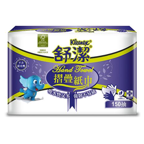 【舒潔】摺疊紙巾(150張x32包)