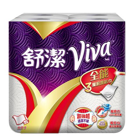 VIVA 全能三層廚房紙巾-大尺寸 (捲筒式) 60張x4捲x6串/箱