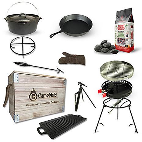 美國Campmaid多功能戶外露營烤肉木箱超值組