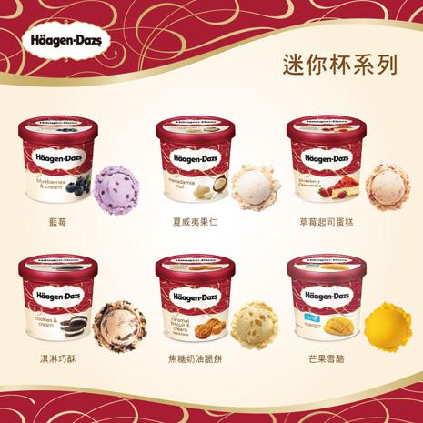 【預購】Haagen-Dazs冰淇淋迷你杯+雪糕外帶商品禮券2張