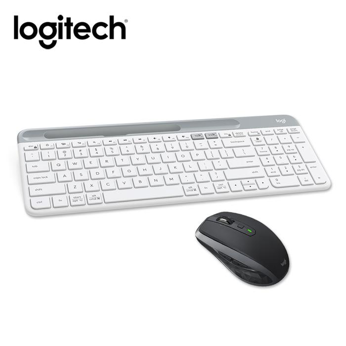 【領券折】羅技 K580藍牙鍵盤(白)+MX Anyw here2S無線滑鼠(黑)
