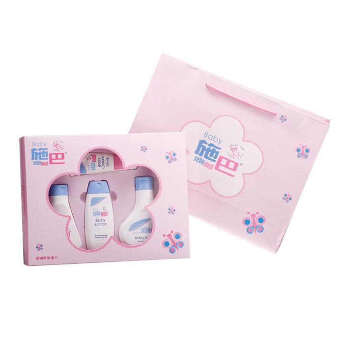施巴 嬰兒粉紅花語禮盒 Sebamed 附禮袋