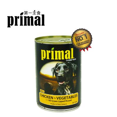 【紐西蘭/Primal/第一主食】天然無榖主食狗罐/主食罐★雞肉/蔬菜/成犬配方★12罐/箱