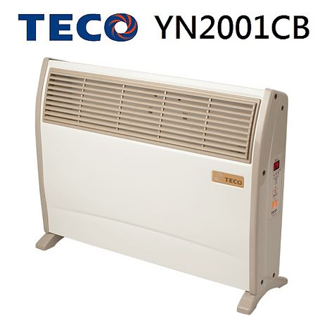 【TECO東元】浴室臥房兩用防潑水微電腦電暖器-YN2001CB