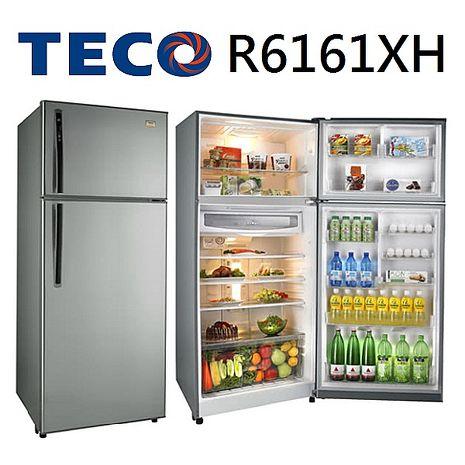 【福利品TECO東元】605L變頻雙門冰箱古銅鑽-R6161XH(含拆箱定位/舊機回收/抬上樓/免運費)