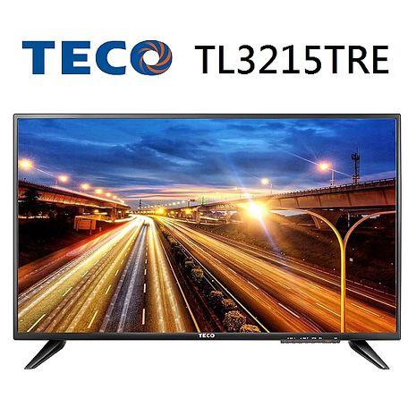 【福利品 TECO 東元】32型晶鑽LED 液晶顯示器-TL3215TRE+TS1301TRA1(視訊盒)