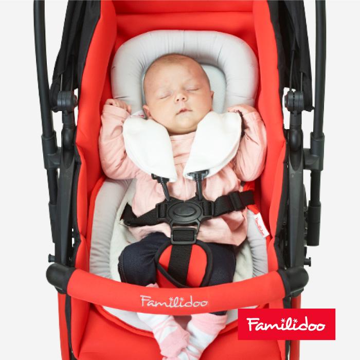 [Familidoo] 頭枕肩帶保護套嬰兒手推車/汽車座椅適用