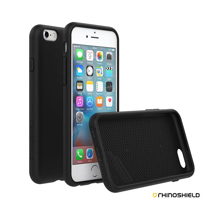 犀牛盾 iPhone 6 Plus / 6s Plus PLAYPROOF 防摔背蓋手機殼純色款i6(s) Plus-黑色