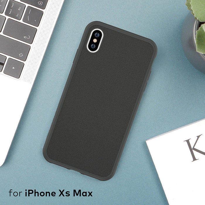 犀牛盾 iPhone XS Max Solidsuit 超細纖 防摔背蓋手機殼 - 泥灰