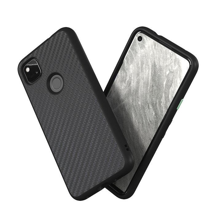 犀牛盾 Google Pixel 4a 4G版本 Solidsuit 碳纖維防摔背蓋手機保護殼-碳纖維