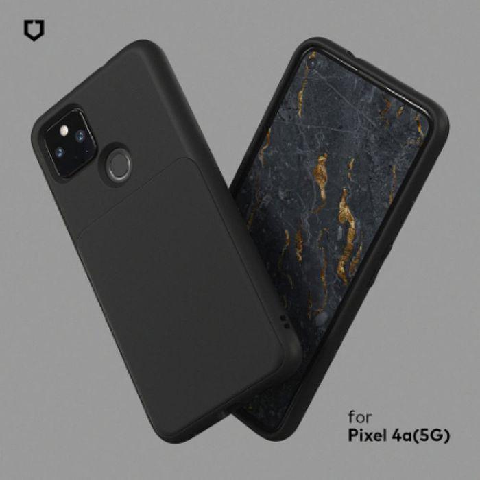 犀牛盾 Google Pixel 4a 5G版本 Solidsuit 經典防摔背蓋手機保護殼-經典黑