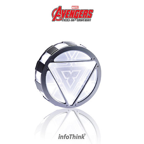 InfoThink 復仇者聯盟2鋼鐵人反應爐行動電源 5000mAh(含觸控式聲光效果)