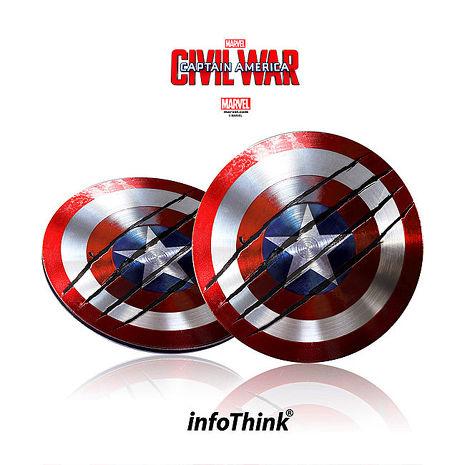 InfoThink 美國隊長超薄盾牌TYPE C / USB雙頭隨身碟16GB(戰損版)
