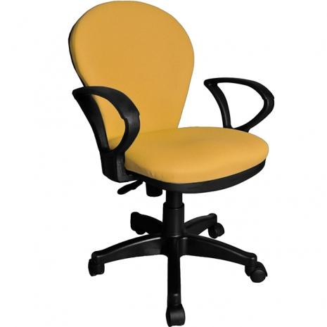 【凱堡】3M防潑水彈力泡綿辦公椅/電腦椅(黃)