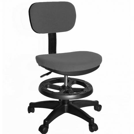【凱堡】3M防潑水兒童椅/電腦椅(附腳踏圈)(灰)