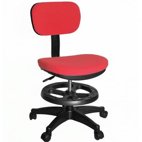 【凱堡】3M防潑水兒童椅/電腦椅(附腳踏圈)(紅)