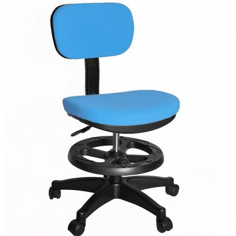 【凱堡】3M防潑水兒童椅/電腦椅(附腳踏圈)(藍)
