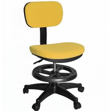 【凱堡】3M防潑水兒童椅/電腦椅(附腳踏圈)(黃)