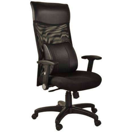 【凱堡】尊爵護腰高背透氣網布電腦椅/辦公椅