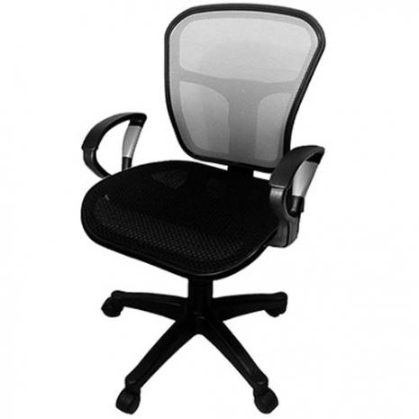 【凱堡】 Cloud全網透氣辦公椅/銀段扶手電腦椅(6色)